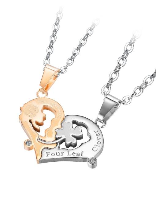 1937 [gold single pendant] Titanium Steel Heart Hip Hop Necklace
